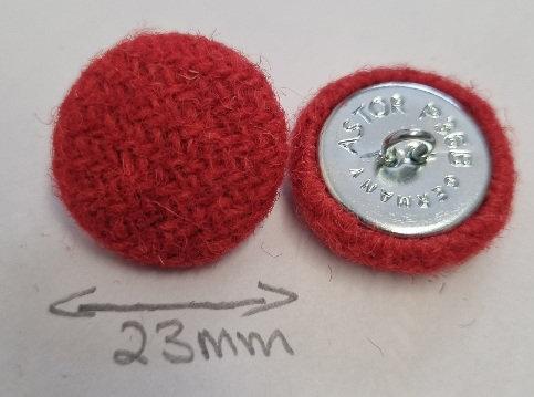 Harris Tweed upholstery/coat buttons x 6