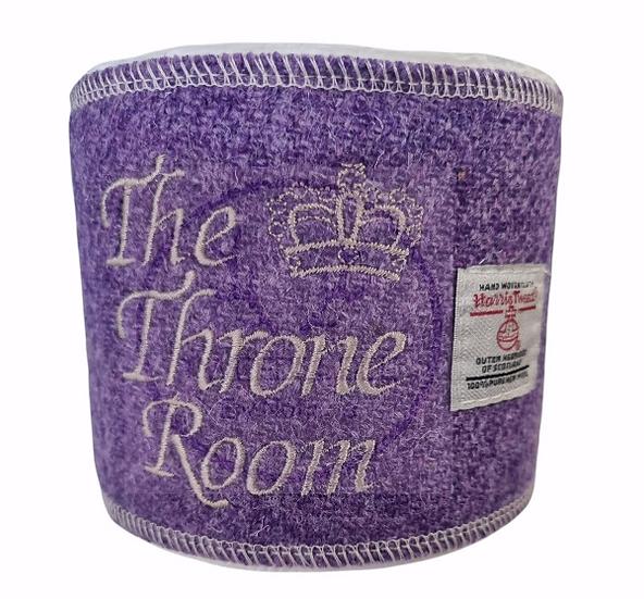 Throne Room. Harris Tweed loo roll wrap