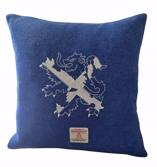 Scottish lion Harris Tweed cushion