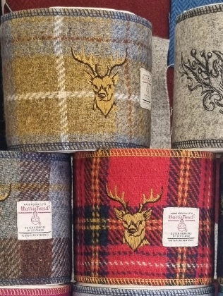 Stag on tweed loo roll wraps