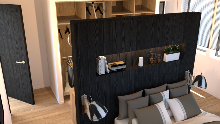 open dressing slaapkamer ontwerp 1