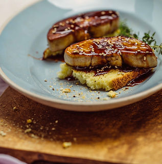 Foie gras and Ovomaltine sauce