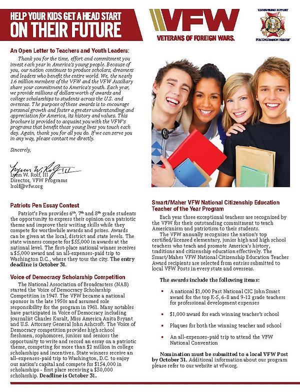 2020 - 2021 National Scholarship Brochur