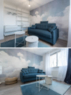Dans cet appartement, mon client souhaitaitcréer deux studios destinés à la location étudiante.Or, les arrivées et évacuations d'eau étaient toutes placées de ce côté de l'appartement. D'autre part, nous devions rendre ce studioorienté Nordplus chaleureux et plus lumineux. Ondine Rebillard Architecte d'intérieur et Décoratrice à Lyon