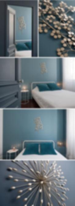 Rénovation d'un appartement ancien à lyon. Architecture d'intérieur, décoration, mobilier sur-mesure, ambiance bleu foncé et marbre pour un esprit haut de gamme. Ondine Rebillard Architecte d'intérieur à Lyon rénove et décor vos appartement et maison.