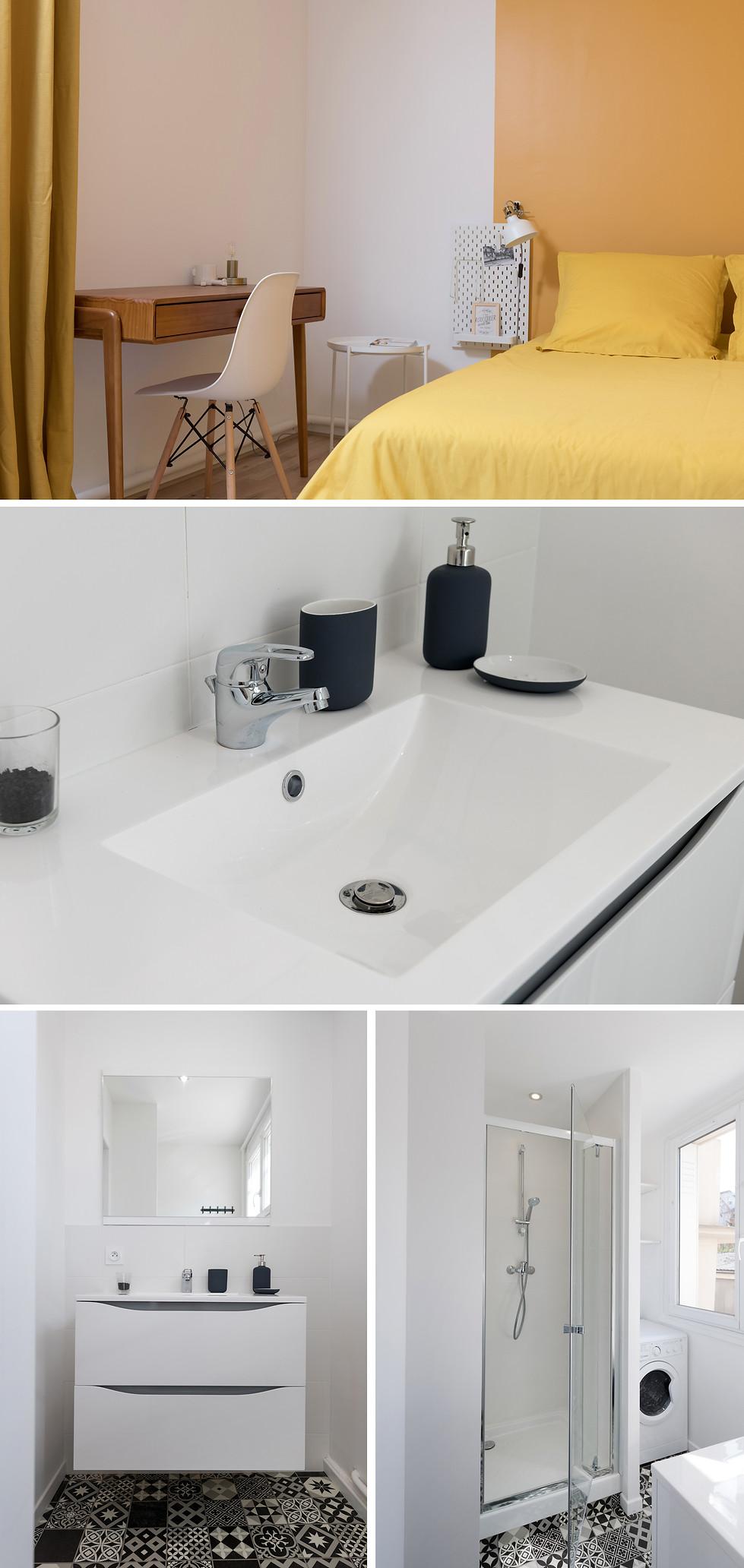 Rénovation d'un appartement à Lyon teinté de vert et de nature. Architecte d'intérieur et décoratrice, je m'adapte à vos envies et à vos besoins.
