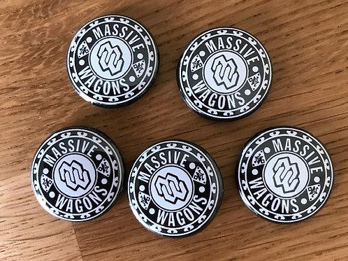 Drum Skin Pin Badge