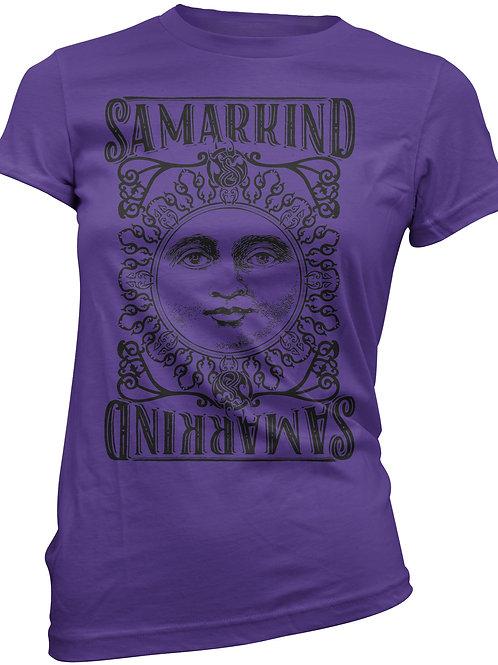 Samarkind purple and black Sun Tee - Ladies