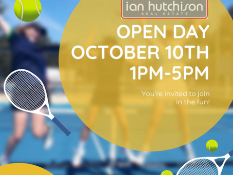 Ian Hutchison Real Estate Opening Day....lots of tennis, fun and maybe a drink or two....