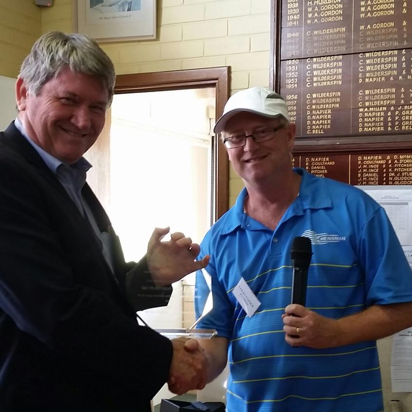 Ian Hutch with Award
