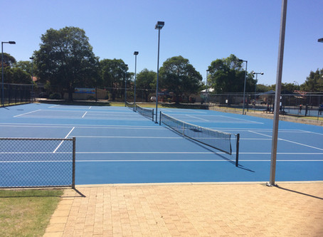 Centre courts resurfaced