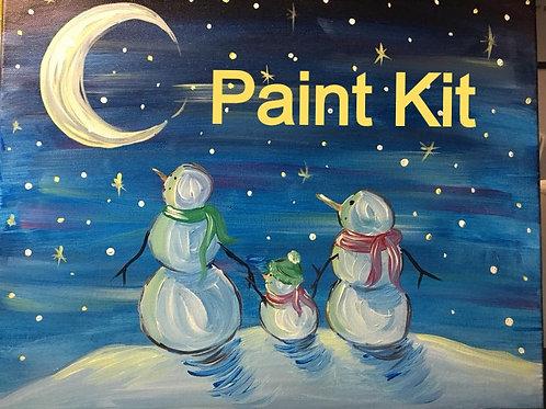 Moonlight Snowmen - Paint Kit - 11/10/20 7pm Eastern Time