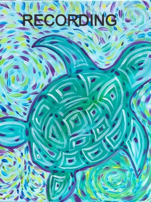 Abstract Sea Turtle - Recorded Live Event