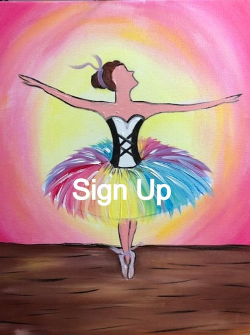 Colorful Ballerina Sign Up - 3/18/21 at 7pm Eastern Time