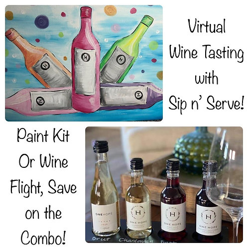 Paint & Wine Tasting Workshop 6/26/21 -8pm Eastern Time