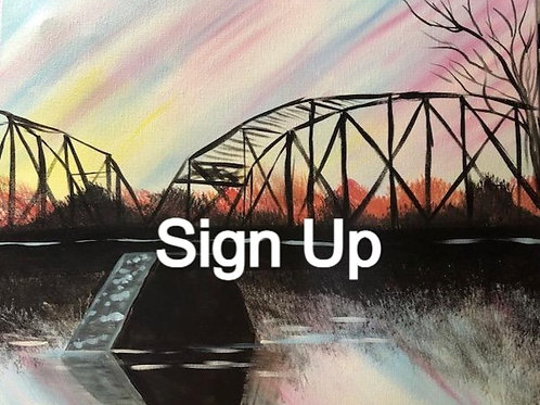 Bridge at Sunset Paint it Forward 5/7/21 at 7pm Eastern Time