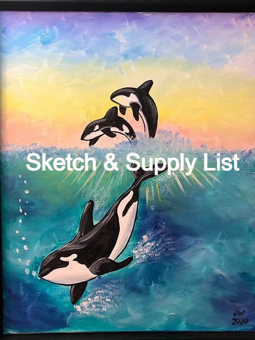 Sunrise Orca Sketch and Supply List