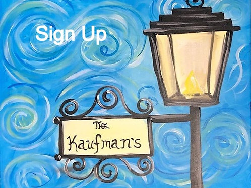 Lamp Post Sign Up - 11/12/20 at 8pm Eastern Time
