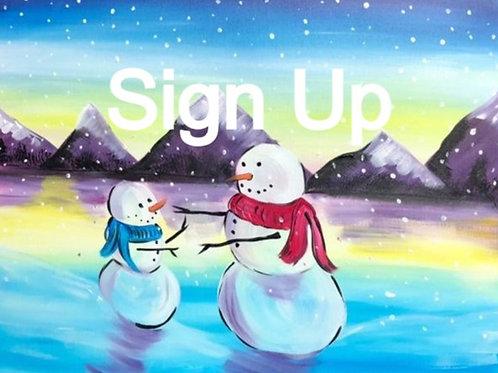 Hugging Snowmen Paint it Forward for MHS 2023- 1/22/21 7:30pm EST