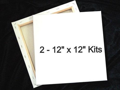 "Duo Paint Kit - Square (2 x 12""x12"")"