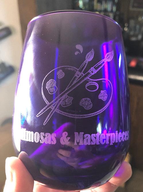 Mimosas & Masterpieces Wine Glass