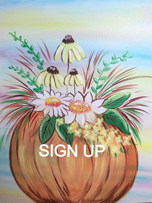 Pumpkin Planter Sign Up- 11/19 - 9pm Eastern Time