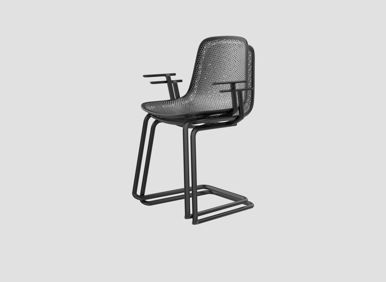 U leg stacking with armrest