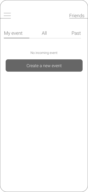 Home event page