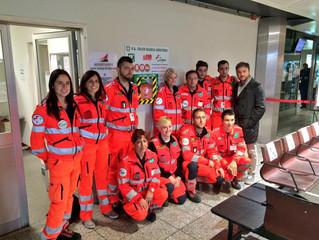 La Croce Bianca Genovese dona all' Aeroporto di Genova un Defibrillatore semiautomatico (DAE)