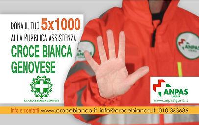 5X1000 croce bianca genovese