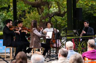 Solem Quartet and Anthony Friend perform Brahms' Clarinet Quintet in B minor, Op. 115