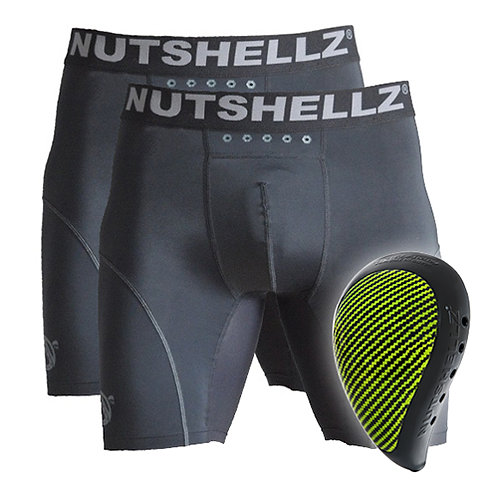 Nutshellz® LEVEL 1 BLACK AND GREEN AND 2 JOCK COMBO