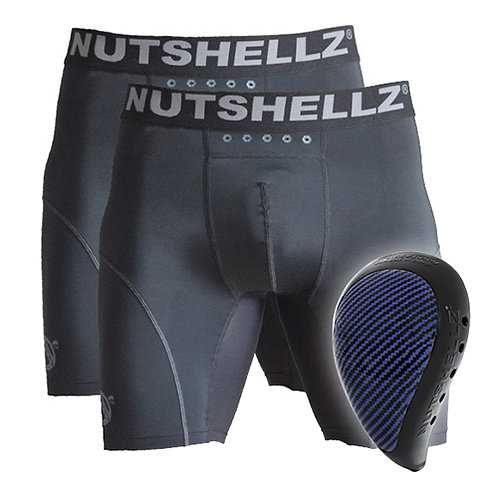 Nutshellz® LEVEL1 BLACK AND  BLUE AND 2 JOCK COMBO