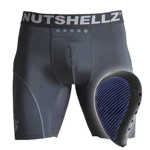 Nutshellz® LEVEL 1 BLACK AND BLUECARBON AND JOCK SHORT COMBO