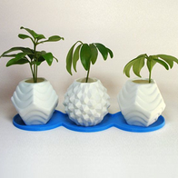 3D Printed Plastic Planters