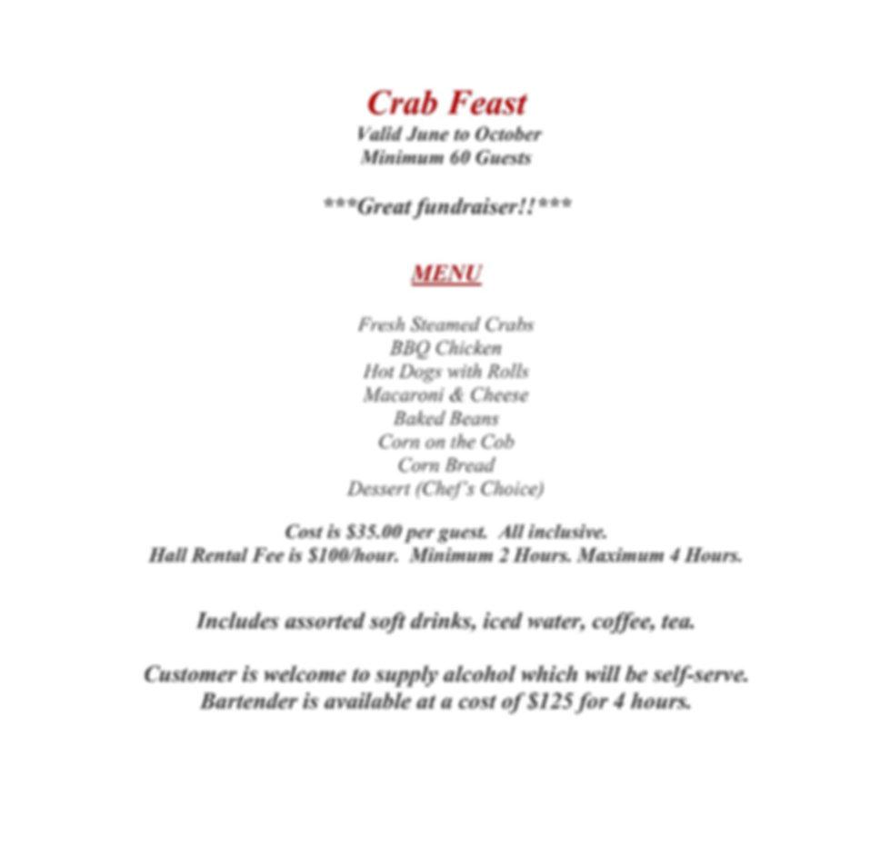 Renzi's Catering Crab Feast