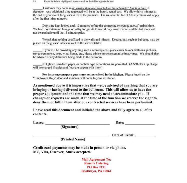 2Rental Agreement of The Ballroom At Bet