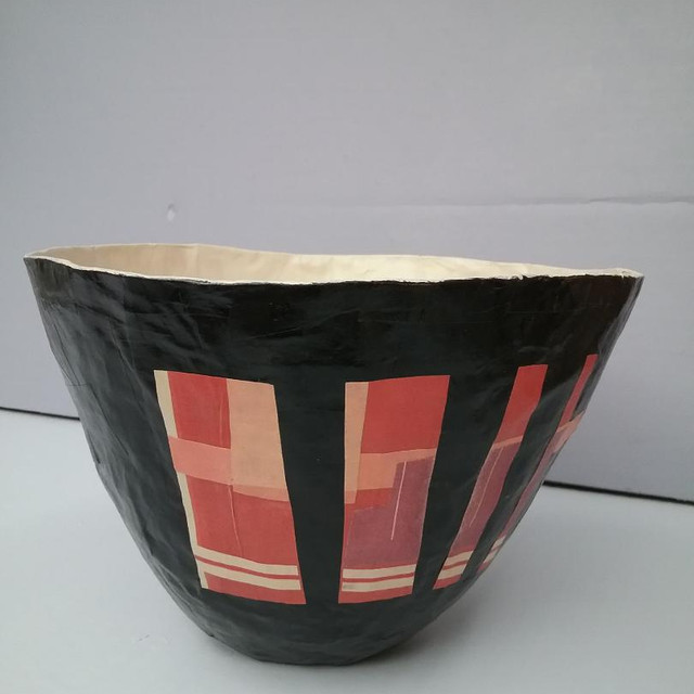 Paper Bowl with Red Design
