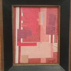 Red Abstrac in Framet