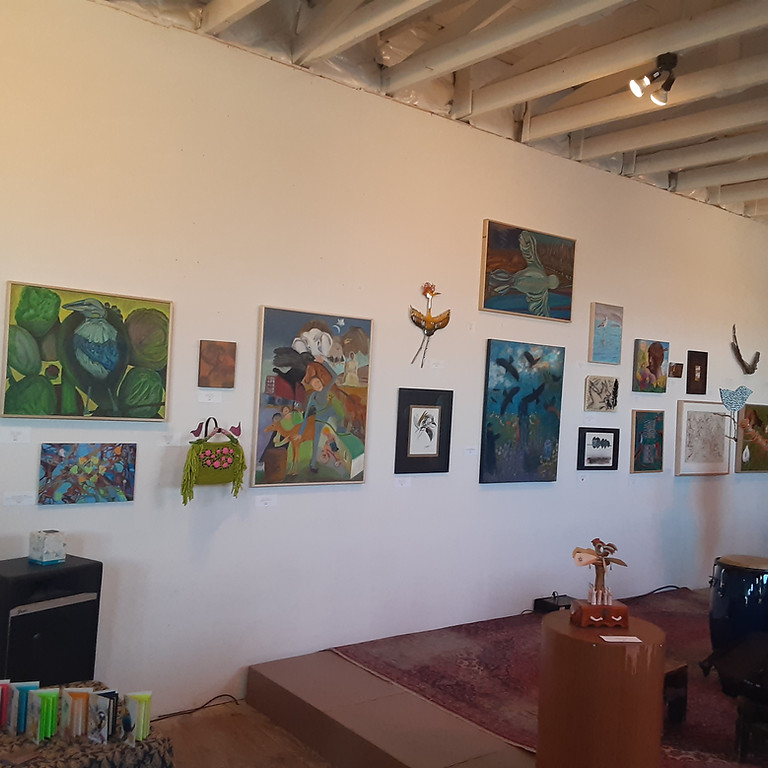 Lisa and John were in the Grief and Gratitude show at Tortuga Gallery.