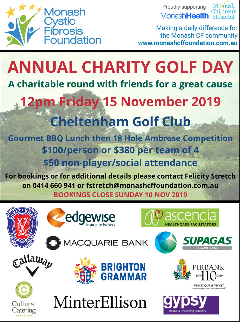 2019 Annual Charity Golf Day