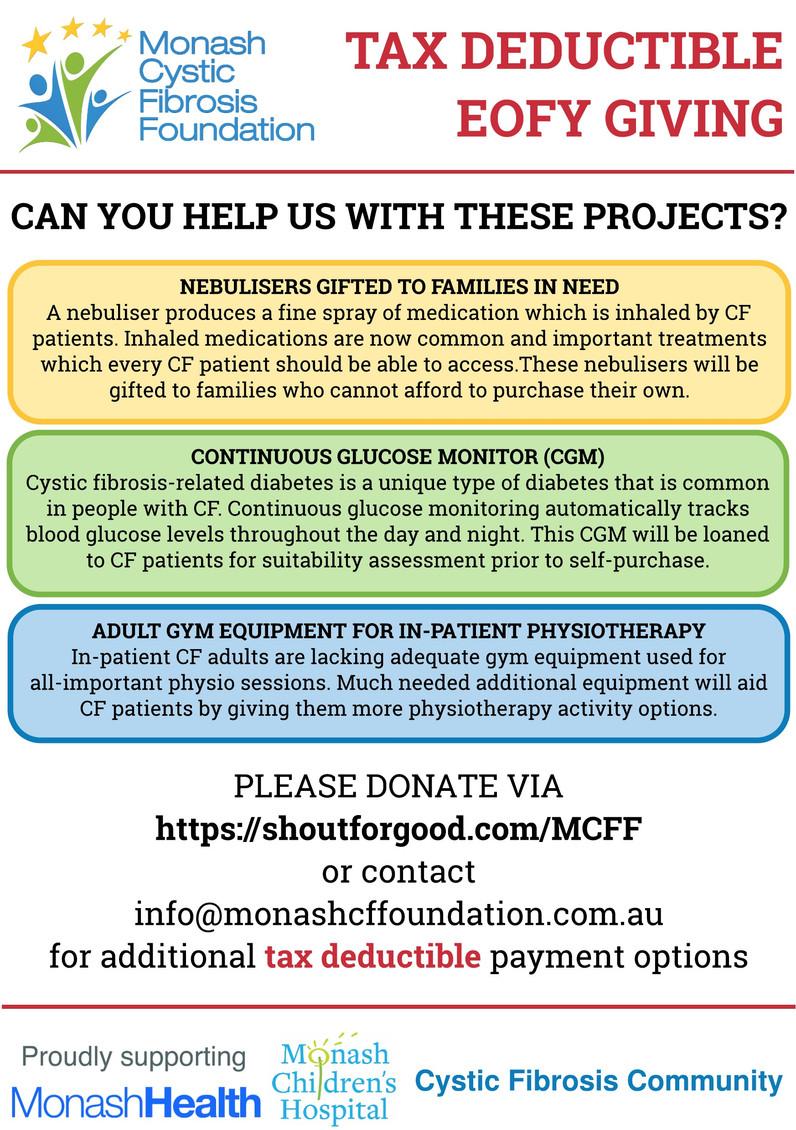 Monash CF Foundation EOFY Tax Deductible Giving