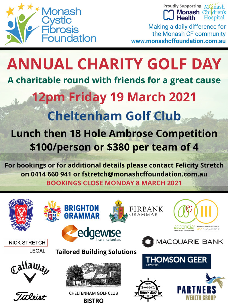 Annual Charity Golf Day - 19 March
