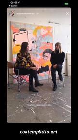 Gespräch mit der Künstlerin Susanne Bonowicz und der Kuratorin Barbara Green.