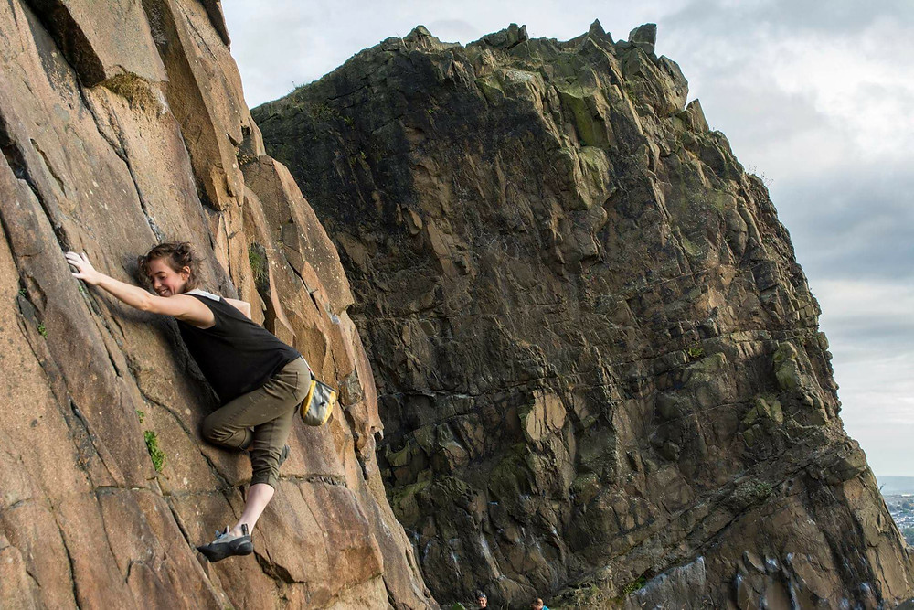 Salisbury Crags in Emily's home town of Edinburgh. Photo: Mhairi Bell-Moodie