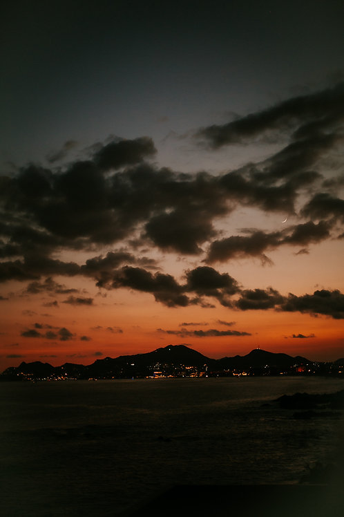 Cabo Mexico Fire Sunset