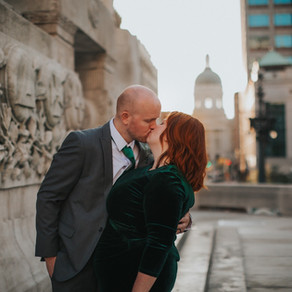 The Payne's: Downtown Indianapolis, Monument Circle Intimate Wedding Ceremony