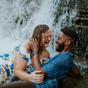 Cataract Fall; Cloverdale, IN: Leah & Boniface Engagement Session