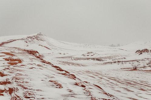 Utah Sand Dunes in Snow