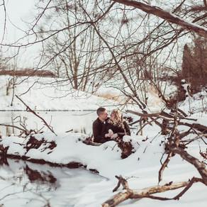 Snowy Hummel Park Engagement: Lauren + Bailey
